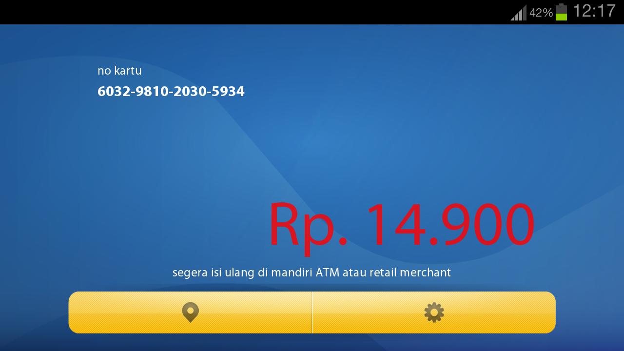 Cek Saldo Mandiri E Money Di Android Ridwansyah Corner