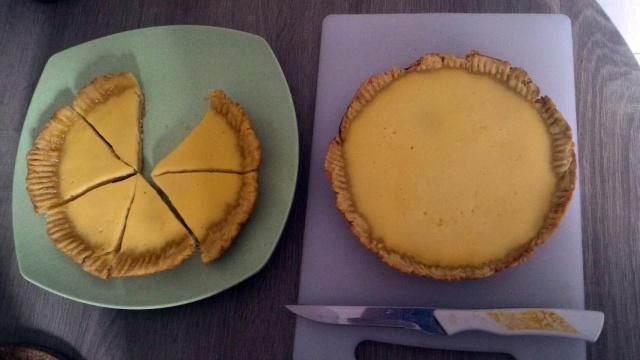 Satu adonan menjadi 2 loyang pie susu